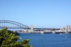 Sydney city skyline. View across Sydney harbour with bridge and opera house Stock Photo