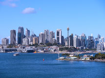 Sydney City Skyline Royalty-vrije Stock Foto