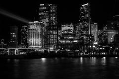 Sydney City Skyline from Campbell`s Cove Stock Photos
