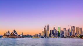 Sydney City Skyline Stock Photography