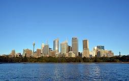 Sydney City Skyline del punto de Macquaries, Australia Imagen de archivo libre de regalías