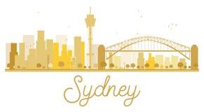 Sydney City skyline golden silhouette. Stock Image