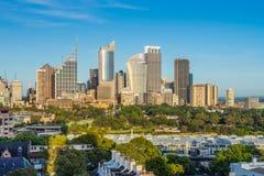Sydney City Skyline i Australien arkivfoton