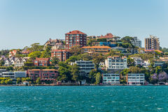 Sydney City Skyline - Point Piper mansions Stock Photo
