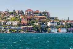 Sydney City Skyline - Point Piper mansions Royalty Free Stock Image