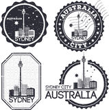 Sydney city stamps Royalty Free Stock Photos