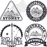 Sydney city stamps Royalty Free Stock Images