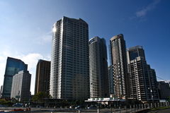Sydney city tall skyscrapers buildings. Stock Photos