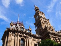 Sydney City Town Hall Stock Foto's