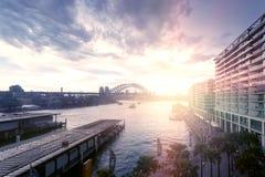 Sydney city traffic, evening Stock Photo