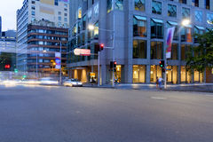 Sydney City traffic light trails Royalty Free Stock Photos
