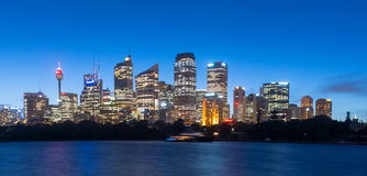 Sydney city twilight Stock Image
