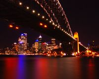 Sydney city view at night Royalty Free Stock Photos