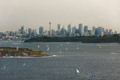 Sydney city view from North Head Royalty Free Stock Photography