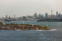 Sydney city view from North Head Stock Photos