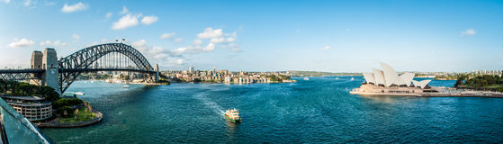 Sydney city view. Sydney panorama with view on the bridge and opera house Stock Image