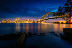 Sydney city view at twilight Stock Photography