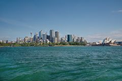 Sydney city view from the water Royalty Free Stock Photo
