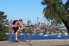Sydney City, vista da Rose Bay Lookout, Australia Fotografie Stock Libere da Diritti