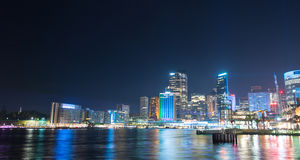 Sydney city in Vivid show. Stock Images