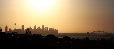 Sydney Cityscape Royaltyfri Fotografi