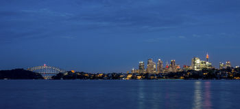 Sydney Cityscape Stock Afbeeldingen