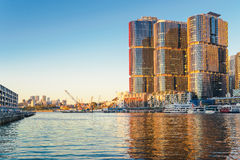 Sydney Cityscape. Sydney, Australia - February 20, 2017: View of Pyrmont Bay in Darling Harbour Royalty Free Stock Image