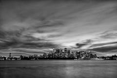 Sydney Cityscape Black e bianco Fotografia Stock Libera da Diritti