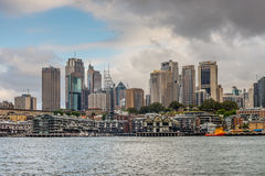 Sydney cityscape on a cloudy day Royalty Free Stock Image
