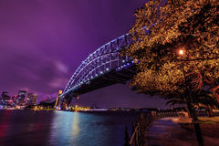 Sydney cityscape at night Royalty Free Stock Image