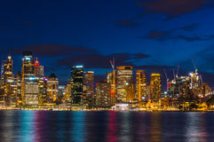 Sydney cityscape at night. Modern urban skyline. Sydney, Australia - October 11, 2015: Sydney cityscape at night. Modern urban skyline Royalty Free Stock Photography