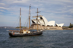 Sydney, clipper ship and Opera House Stock Photography