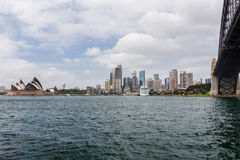 Sydney cloudy cityscape Royalty Free Stock Photos