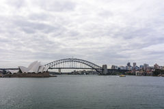 Sydney cloudy cityscape Royalty Free Stock Images