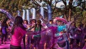 Sydney Color Run Royaltyfri Bild