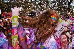 Sydney Color Run Royaltyfria Foton