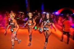 Sydney Color Run Night Stockfotos