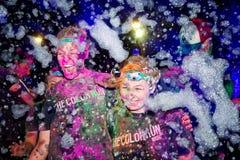 Sydney Color Run Night Lizenzfreie Stockfotografie