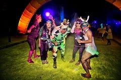 Sydney Color Run Night Lizenzfreies Stockfoto