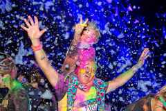 Sydney Color Run Night Royalty Free Stock Photo