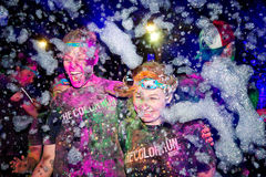 Sydney Color Run Night Royalty Free Stock Photography