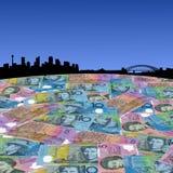 Sydney con los dólares australianos Foto de archivo