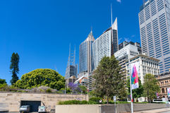 Sydney Conservatorium of Music and Sydney CBD skyline Stock Photo