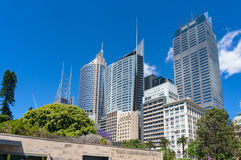 Sydney Conservatorium of Music and Sydney CBD skyline Stock Photography