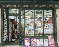 Sydney cove newsagency. Sydney, Australia- 23th March 2013: Sydney Cove Newsagency in George Street in the Rocks area. The building is an example of a mid royalty free stock photos