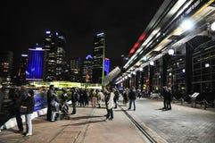Sydney Cove Passenger Terminal, is een openbaar van de cruiseschip en lijnboot vervoersinfrastructuurgebouw royalty-vrije stock afbeeldingen