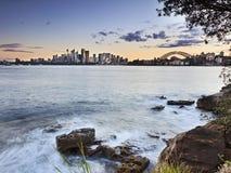 Sydney Cremorne Horiz för 2 lager solnedgång Arkivfoto