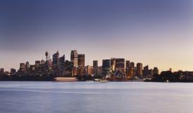Sydney Cremorne panoramy zmierzch zdjęcia royalty free