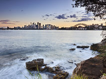 Sydney Cremorne por do sol de Horiz de 2 camadas Foto de Stock