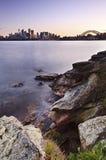 Sydney Cremorne Vertical Sunset Fotografia Stock